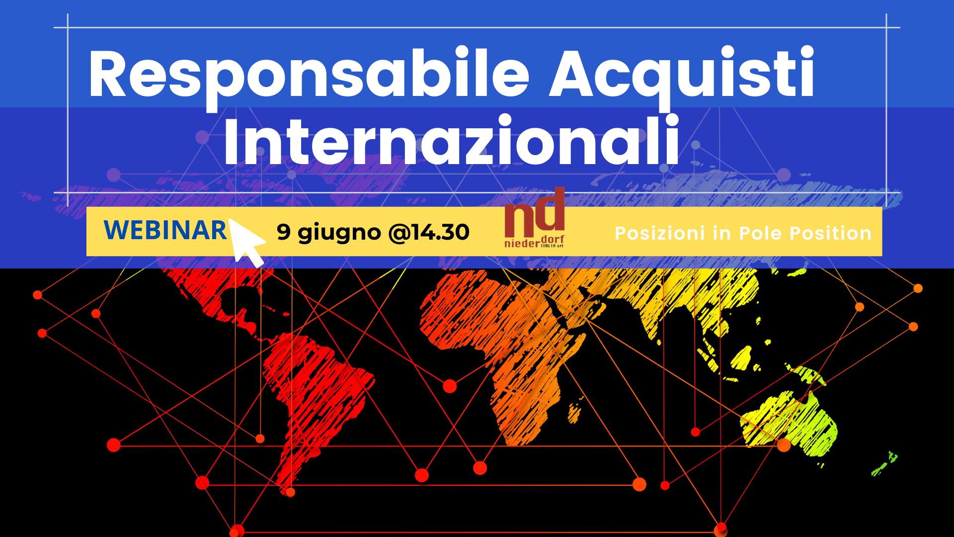 Responsabile acquisti internazionali